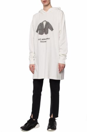 Hooded t-shirt with long sleeves od MM6 Maison Margiela