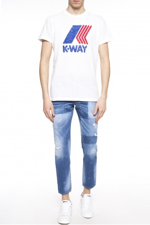T-shirt with printed logo od Dsquared2
