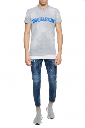 T-shirt with rips od Dsquared2