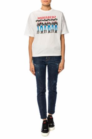 T-shirt with a print od Dsquared2
