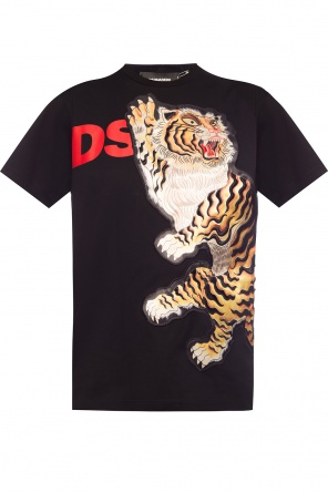 T-shirt with sewn-on pattern od Dsquared2
