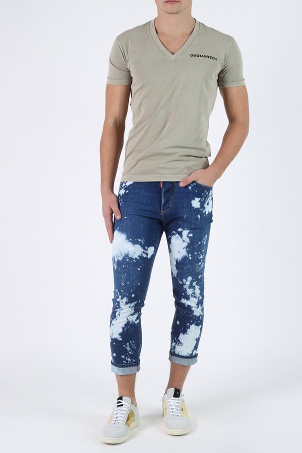 V neck t shirt dsquared2 vitkac shop online for V neck t shirt online shopping