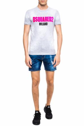 T-shirt with logo application od Dsquared2