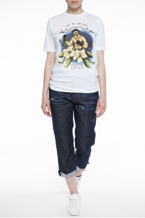 Embroidered t-shirt od Dsquared2