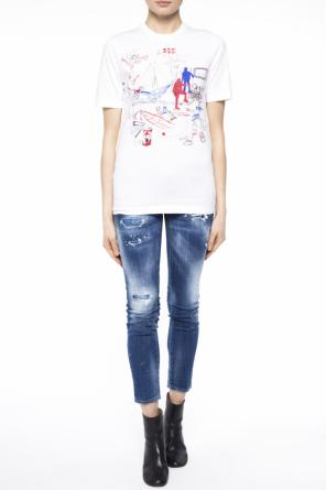 Patterned t-shirt od Dsquared2
