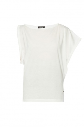 Asymmetrical t-shirt with logo od Dsquared2