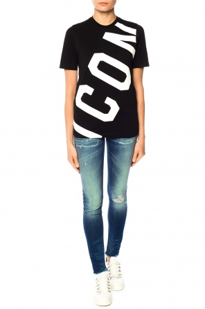 Printed lettering t-shirt od Dsquared2