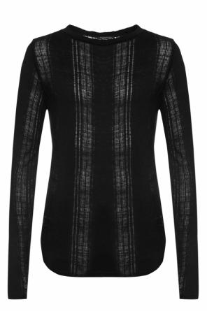 T-shirt with sheer inserts od Balmain