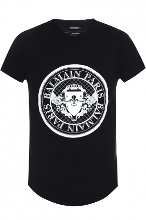 T-shirt with holes od Balmain