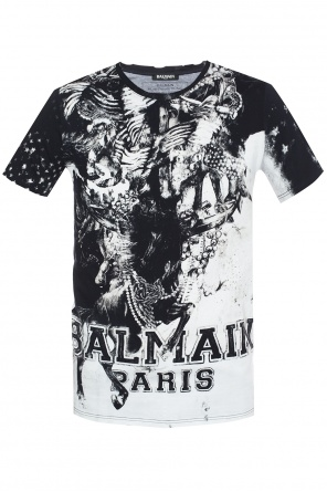 Raw-trimmed t-shirt od Balmain