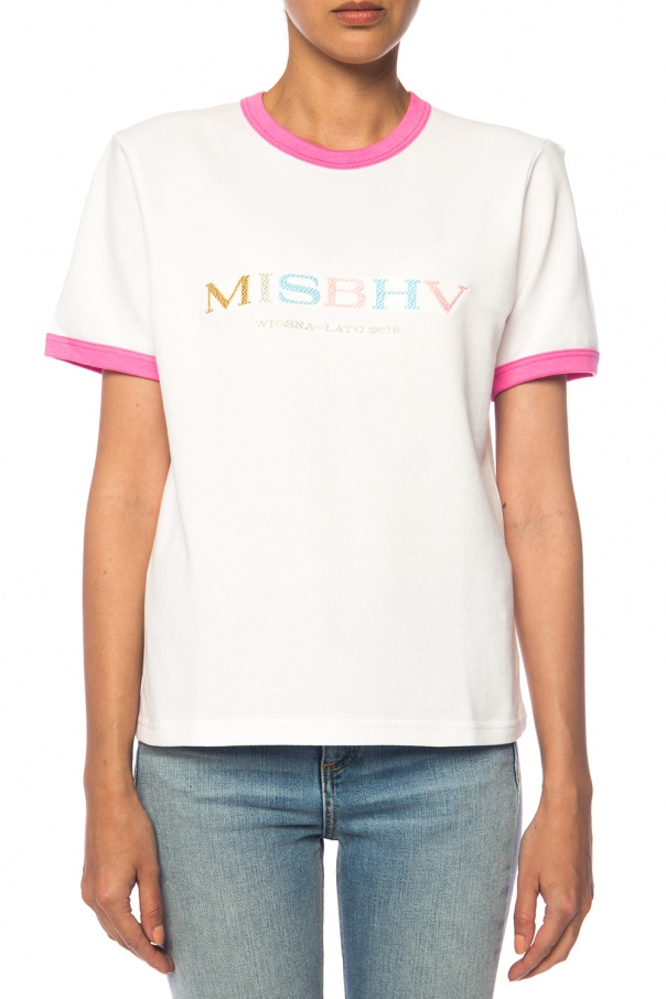 Logo-embroidered t-shirt od MISBHV