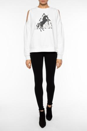 Open-shoulder cropped sweatshirt od Allsaints