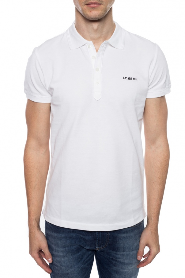 Logo-embroidered polo od Diesel