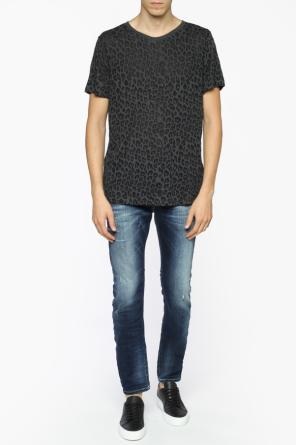 Cheetah printed t-shirt od Diesel