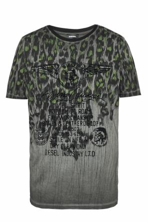 T-shirt with velvet print od Diesel