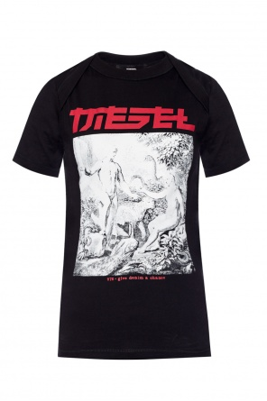 T-shirt with a print and logo od Diesel