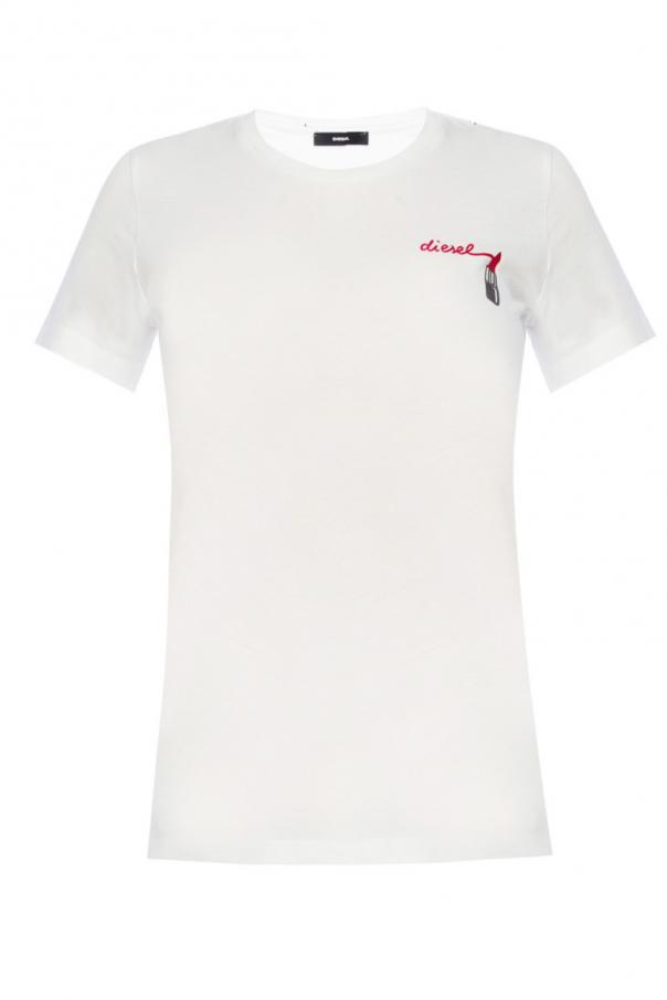 80f8009a728fa T-shirt z nadrukiem z logo Diesel - sklep internetowy Vitkac