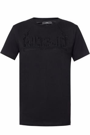 Embroidered lettering t-shirt od Diesel