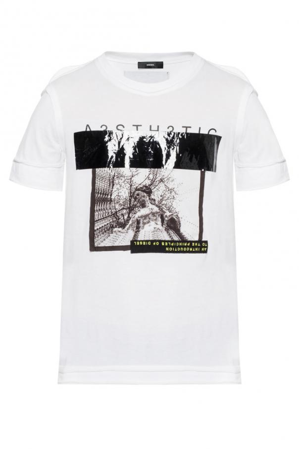 be15e129b Printed T-shirt Diesel - Vitkac shop online