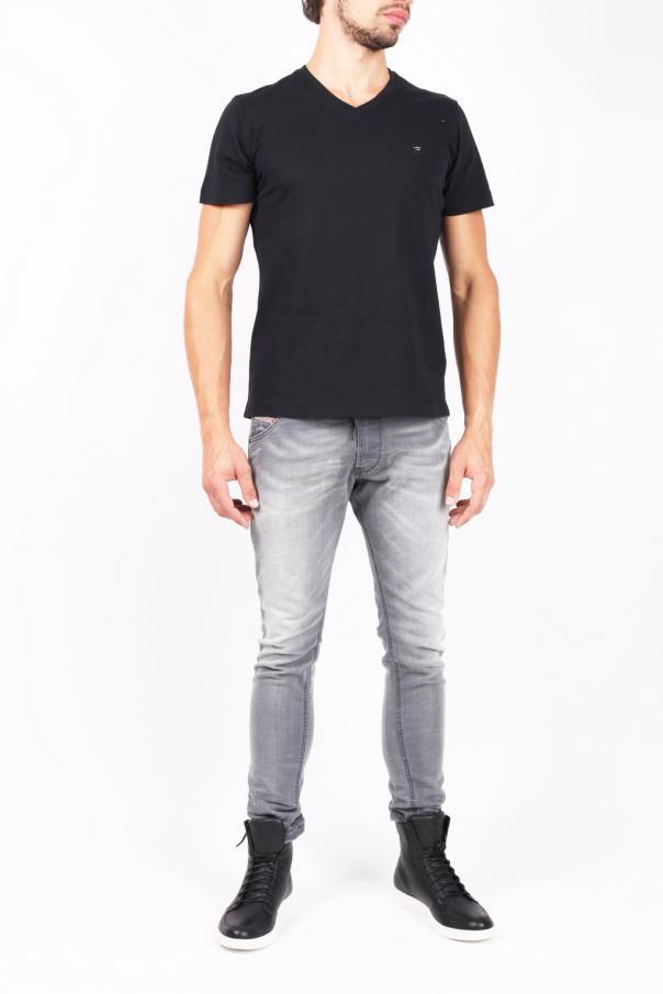 Logo v neck t shirt diesel vitkac shop online for V neck t shirt online shopping