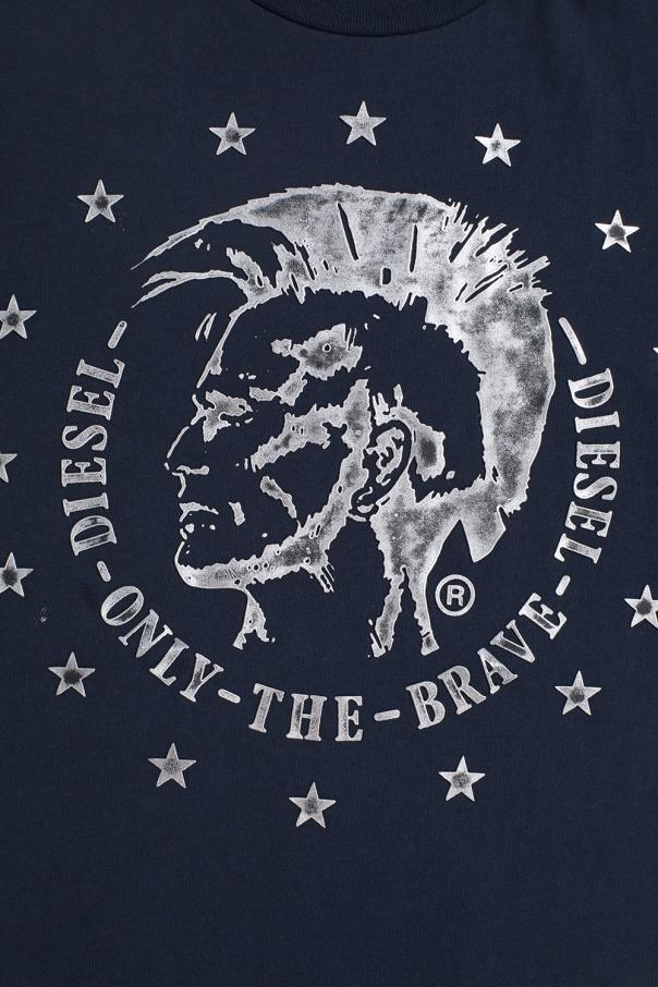 T-shirt z nadrukiem z logo od Diesel