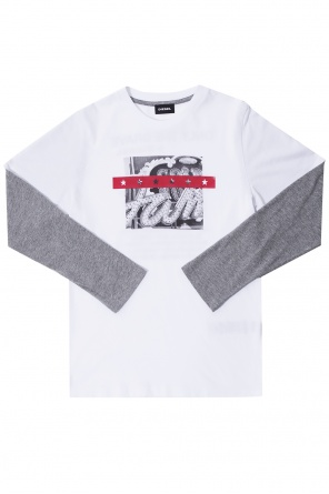 Double-tone sleeve t-shirt od Diesel