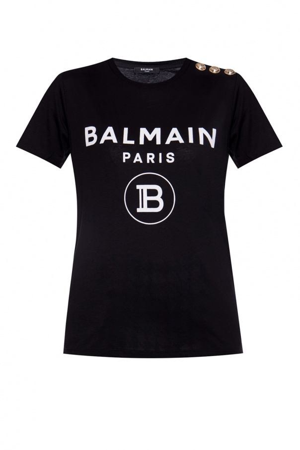 Balmain T-shirt with velvet logo