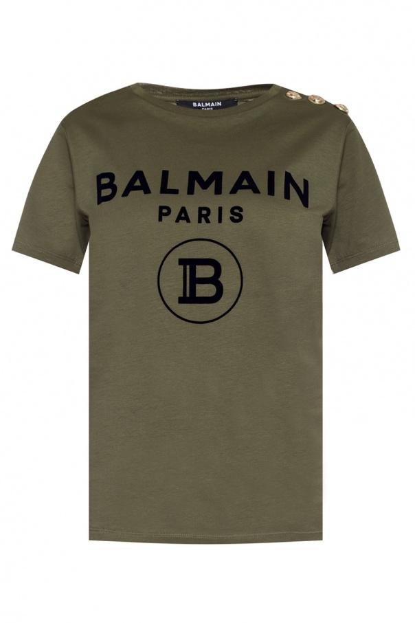 Balmain T-shirt with velvet logo