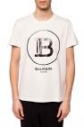 Balmain T-shirt z nadrukowanym logo