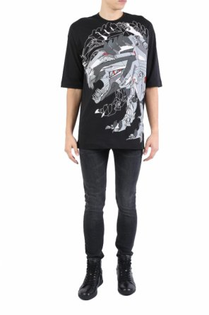 Oversized printed t-shirt od Diesel Black Gold