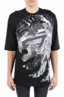 Diesel Black Gold Oversized printed T-shirt