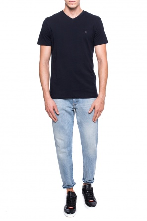 'tonic' logo-embroidered t-shirt od AllSaints