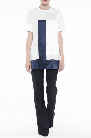 Blouse with satin inserts od Victoria Victoria Beckham