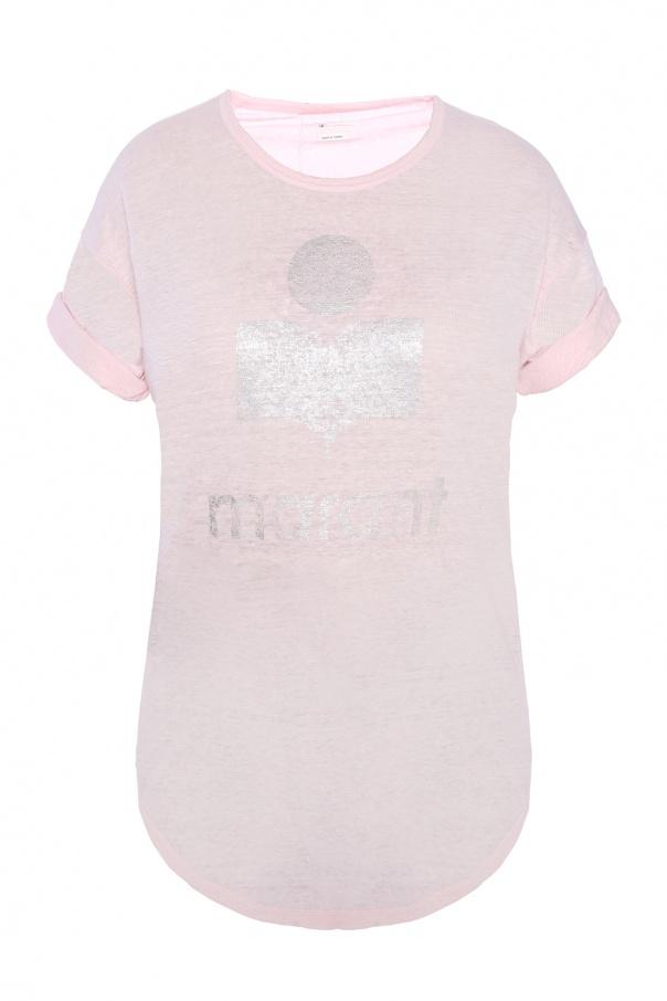 T Shirt Z Nadrukiem Z Logo Isabel Marant Sklep