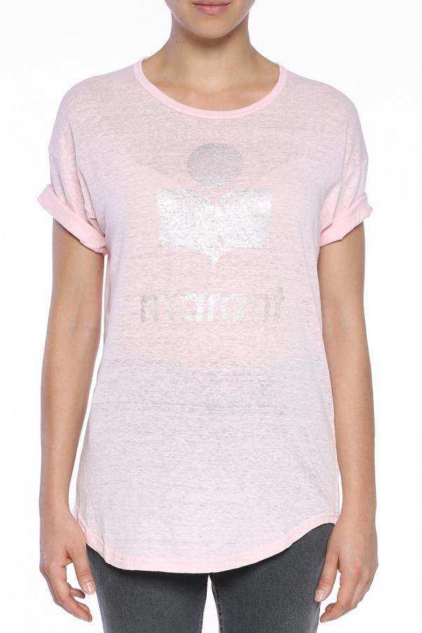 T Shirt With Printed Logo Isabel Marant Vitkac Shop Online