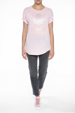 T-shirt with printed logo od Isabel Marant