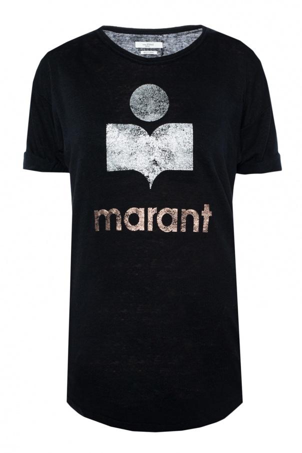 Logo Printed T Shirt Isabel Marant Etoile Vitkac Shop Online