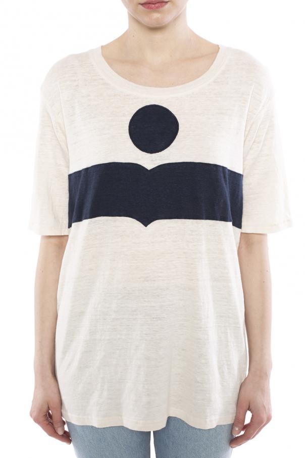 Logo T Shirt Isabel Marant Etoile Vitkac Shop Online