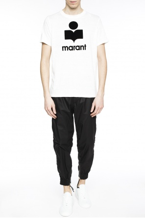 Logo-embossed t-shirt od Isabel Marant