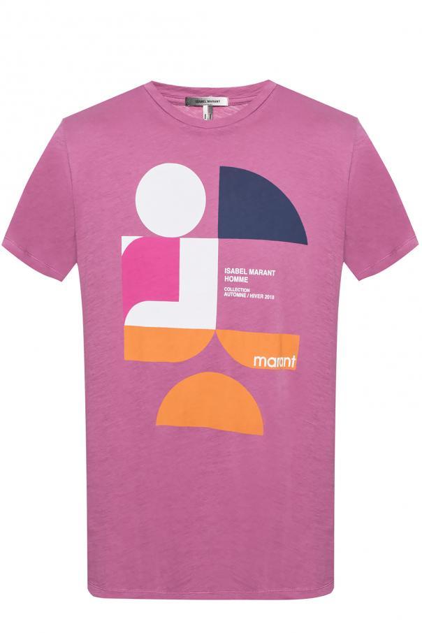 Logo Printed T Shirt Isabel Marant Vitkac Shop Online