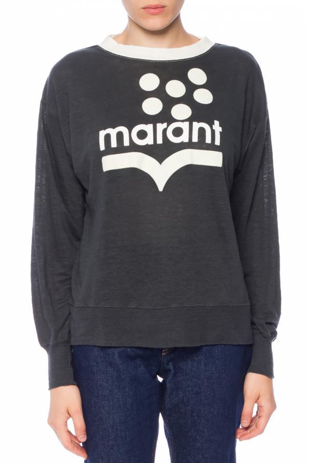 T Shirt Z D Ugim R Kawem Oraz Logo Isabel Marant Etoile