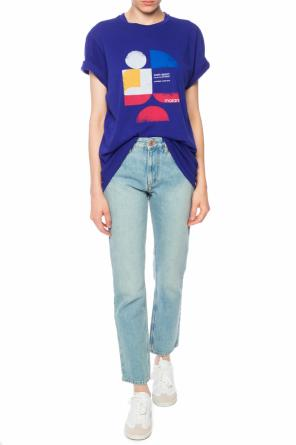 T-shirt with a printed logo od Isabel Marant Etoile
