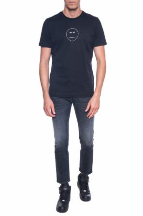 T-shirt with a printed logo od Diesel Black Gold