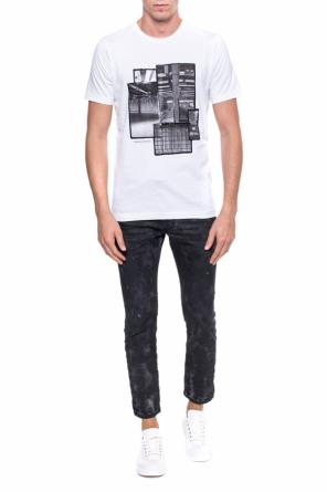 T-shirt with a print od Diesel Black Gold