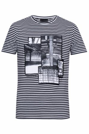 T-shirt with a striped pattern od Diesel Black Gold