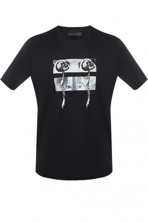 T-shirt with skulls od Diesel Black Gold