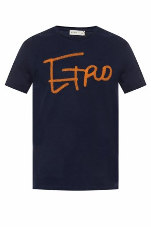 Logo-embroidered t-shirt od Etro