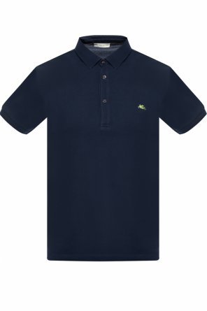 Logo-embroidered polo od Etro