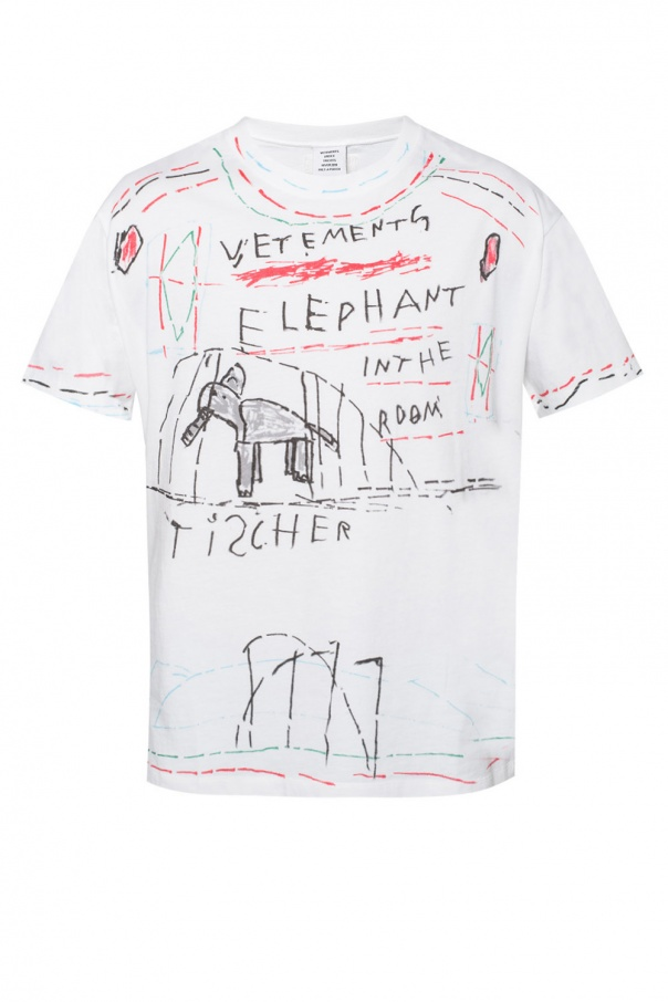 eaeb5add94bc8c ... brand and style of clothes. Logo-printed t-shirt od Vetements