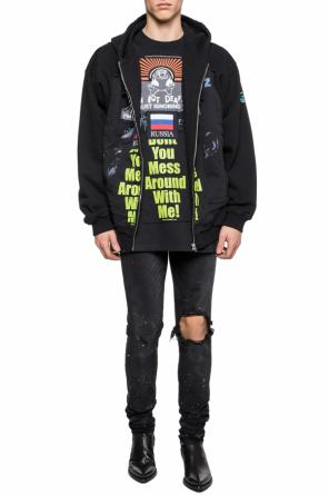 Oversize t-shirt with patch od Vetements
